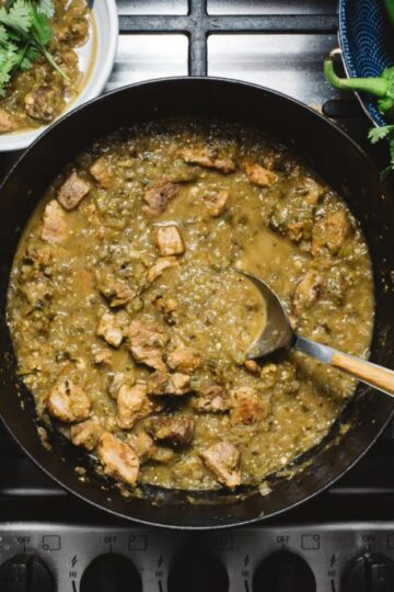 Slow Cooker Green Chili Hatch Chile Verde Recipe